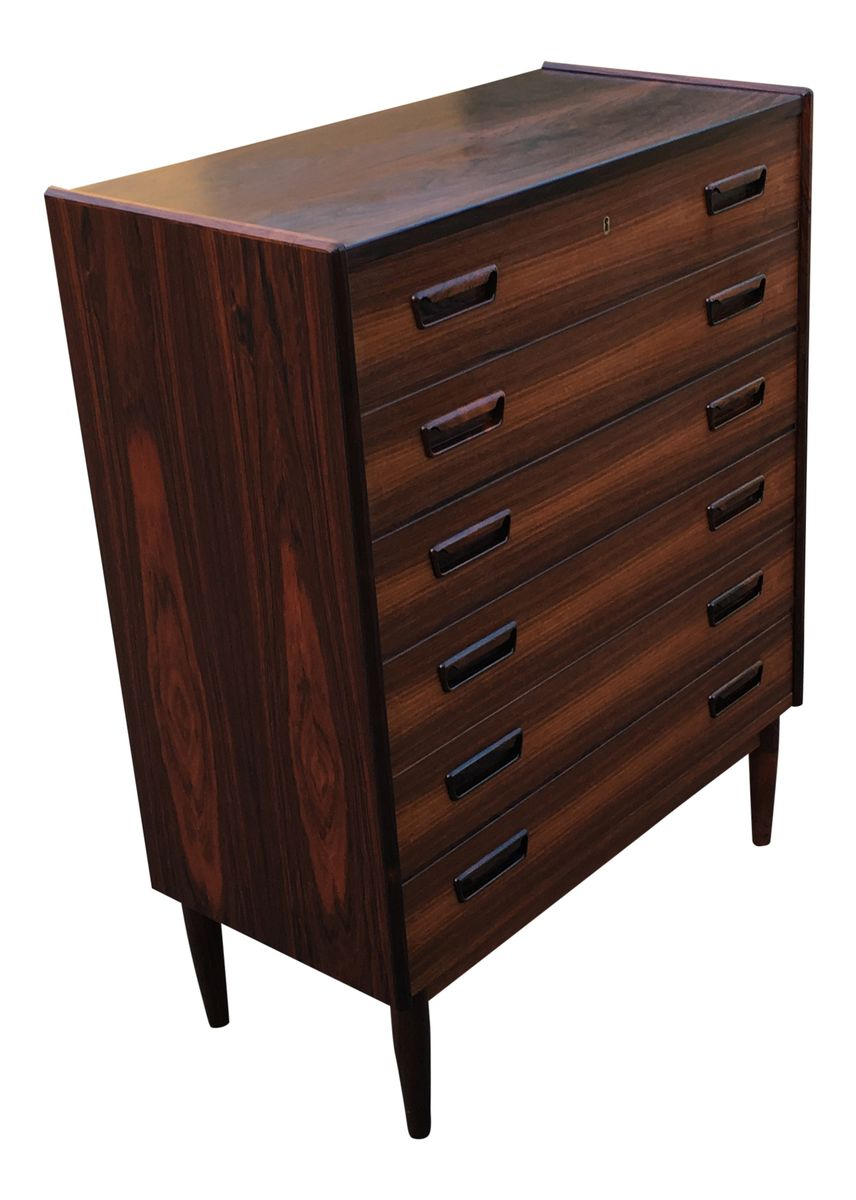 grande commode tiroirs mid century en palissandre de brd larsen en vente sur pamono. Black Bedroom Furniture Sets. Home Design Ideas