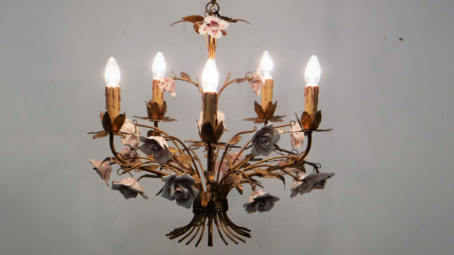 Mid century hollywood regency chandelier 1950s for sale at pamono previous mozeypictures Gallery