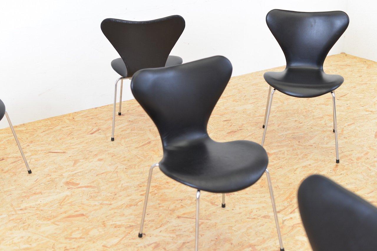 Jacobsen Stühle dänische mid century 3107 stühle arne jacobsen für fritz hansen 6er set bei pamono kaufen