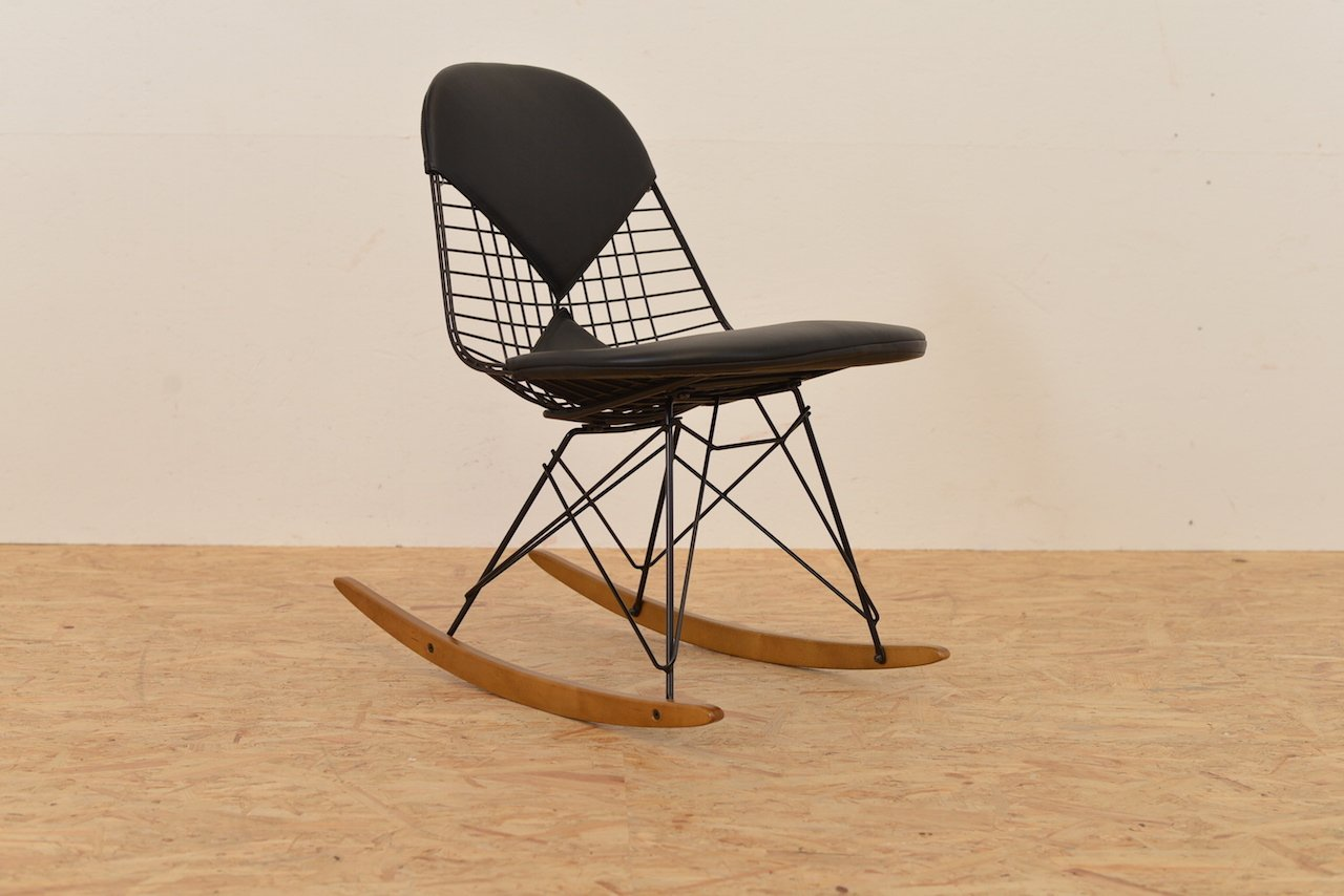 Wire rocking chair by ray and charles eames for vitra for for Eames chair vitra replica