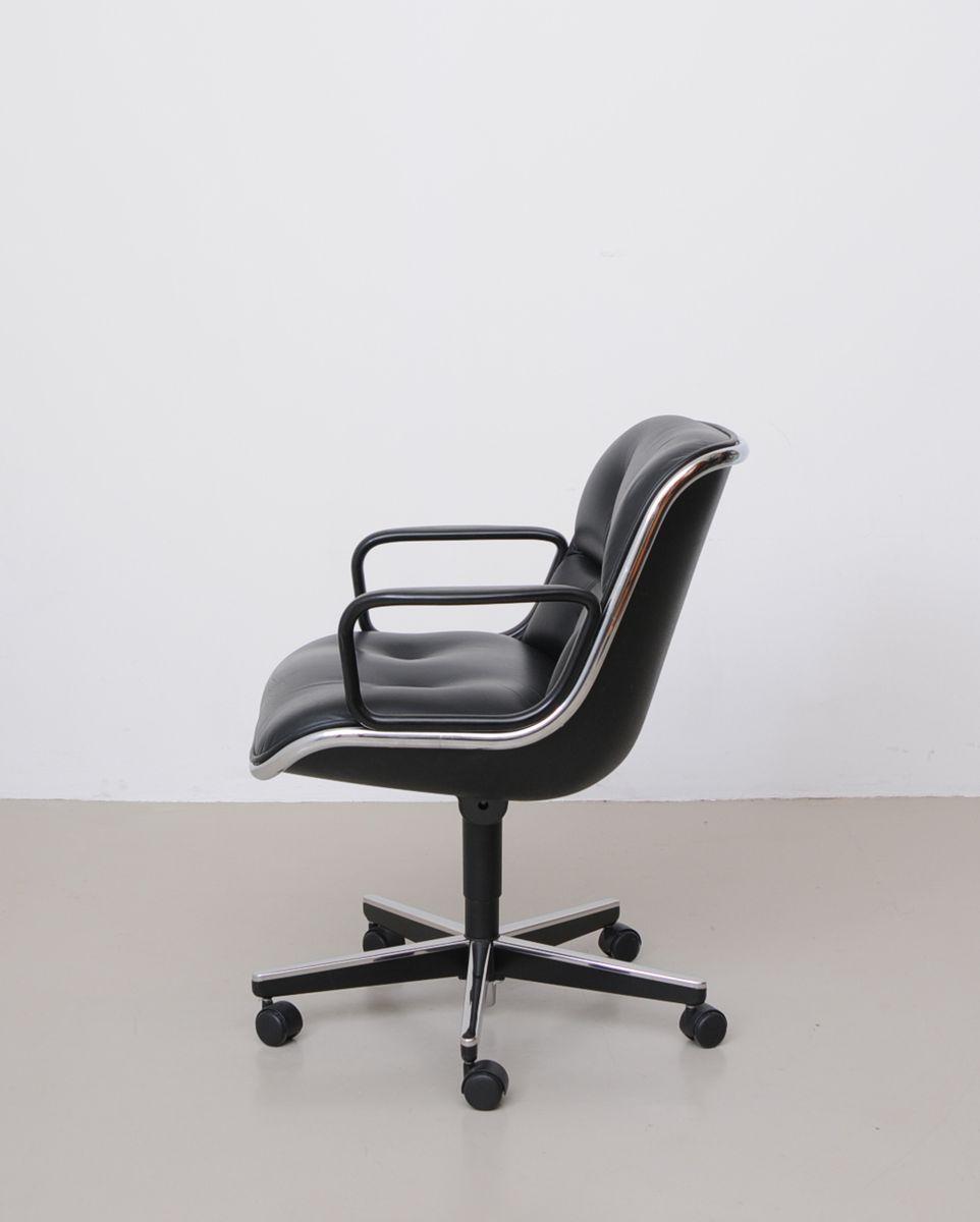 Leder Schreibtischstuhl schwarzer vintage leder schreibtischstuhl charles pollock für