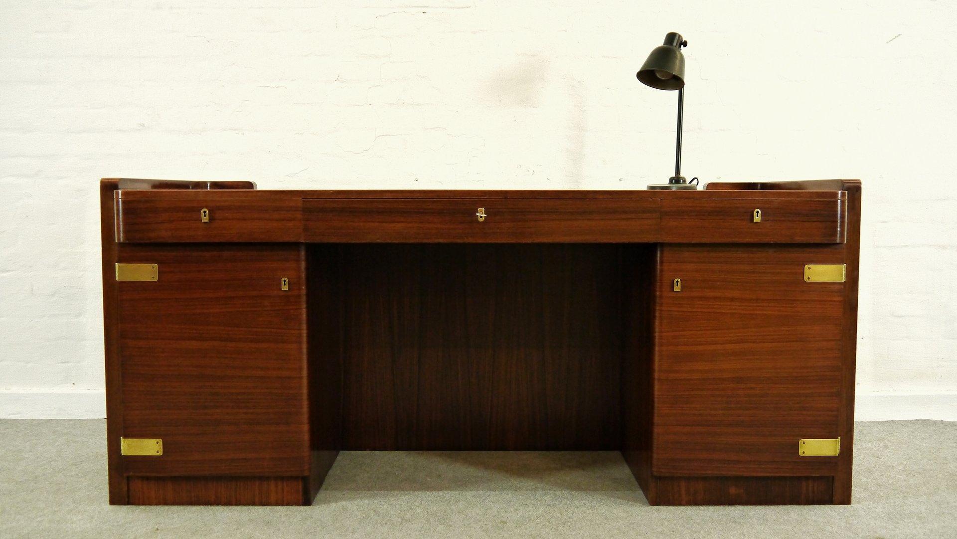 bauhaus art deco desk by bruno paul for wk m bel 1930s for sale at pamono. Black Bedroom Furniture Sets. Home Design Ideas