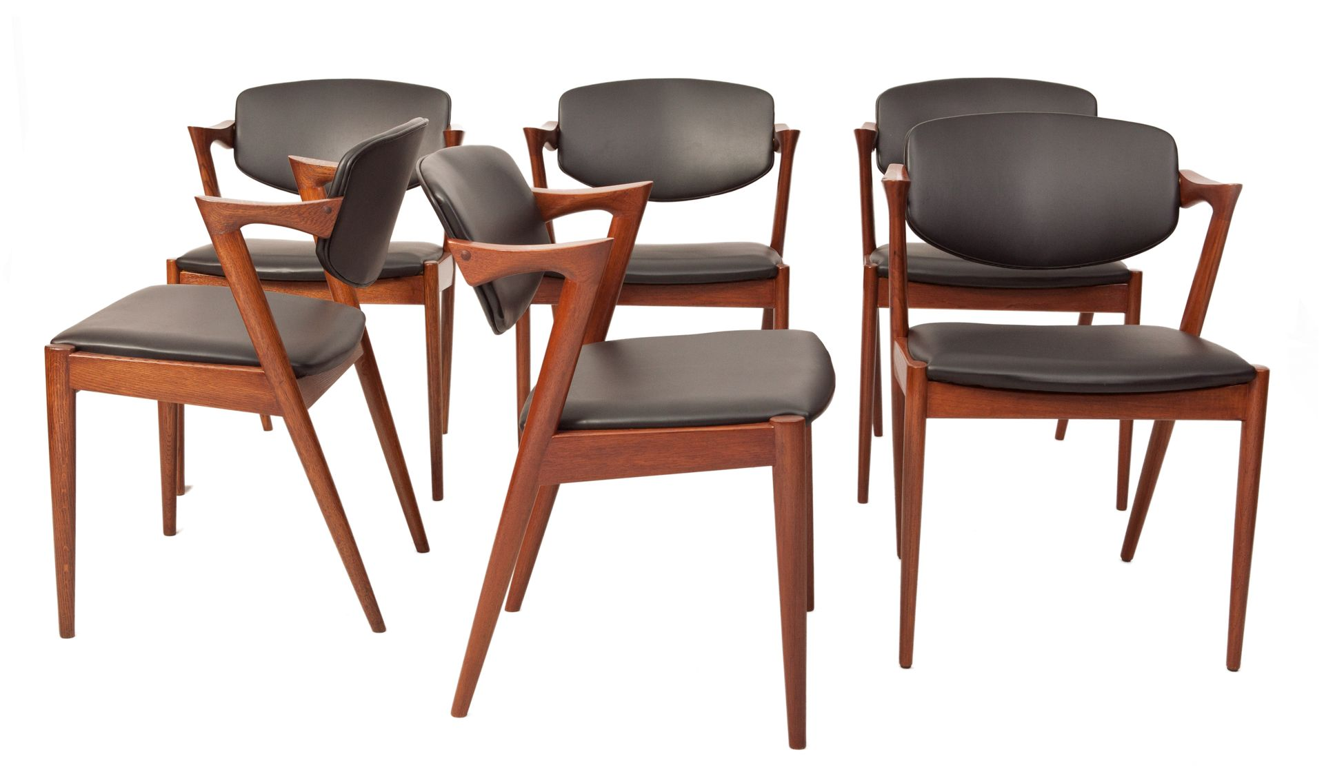 Vintage side chairs by kai kristiansen in teak set of 6 for sale at pamono - Kai kristiansen chairs ...