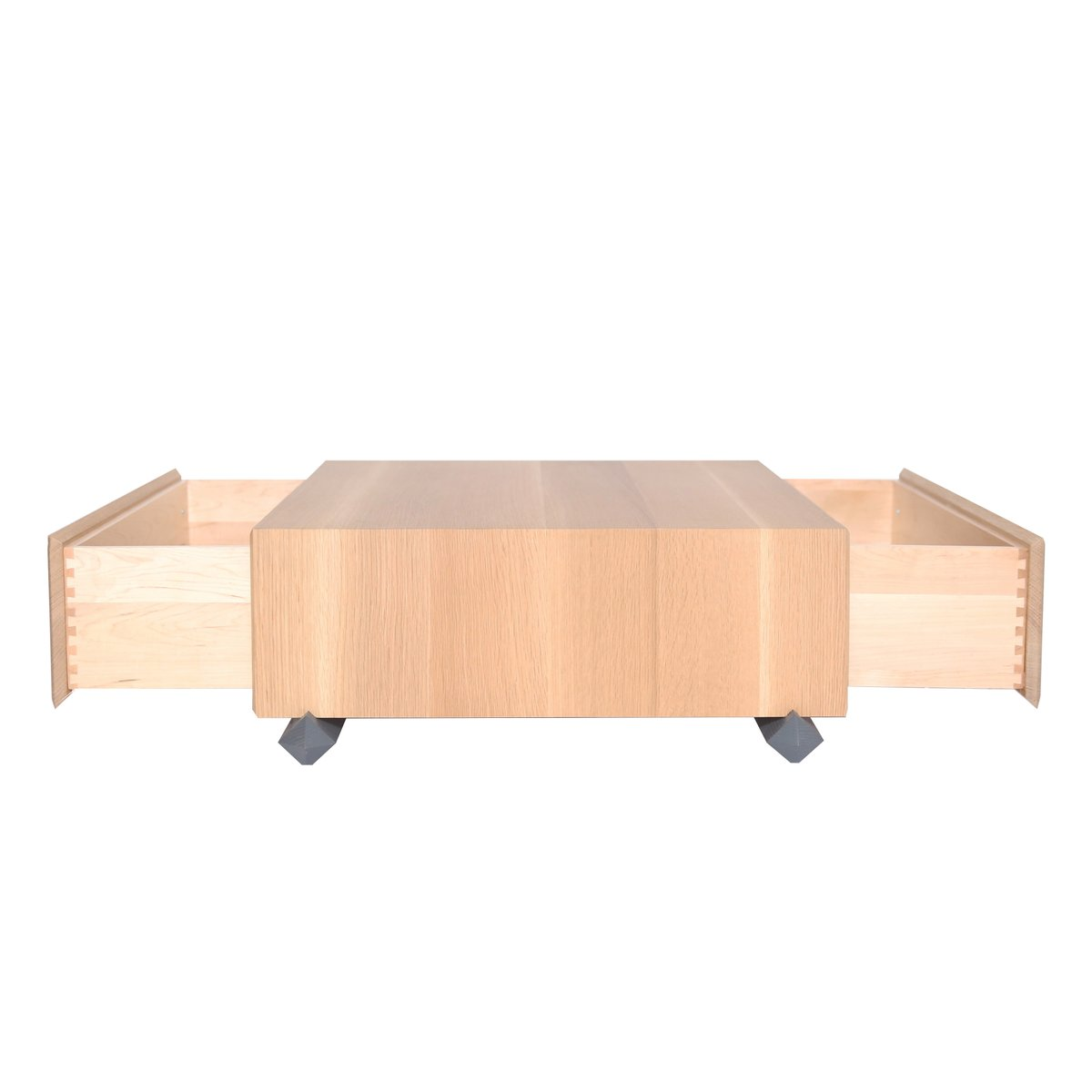 Wooden Coffee Tables With Drawers Stack Storage Wood Coffee Table With Drawers From Debra Folz