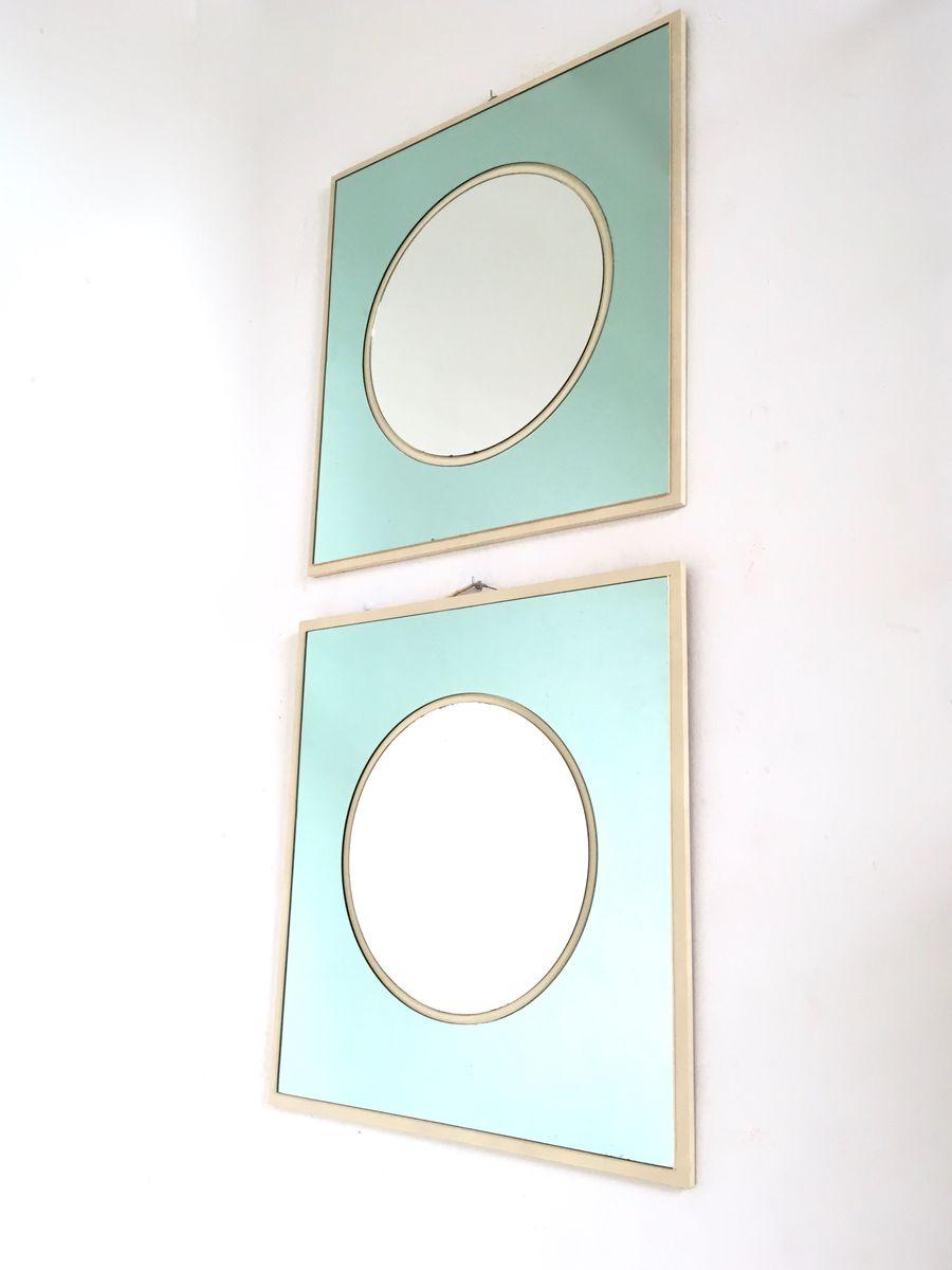 italienische wandspiegel aus holz lackiertem und. Black Bedroom Furniture Sets. Home Design Ideas