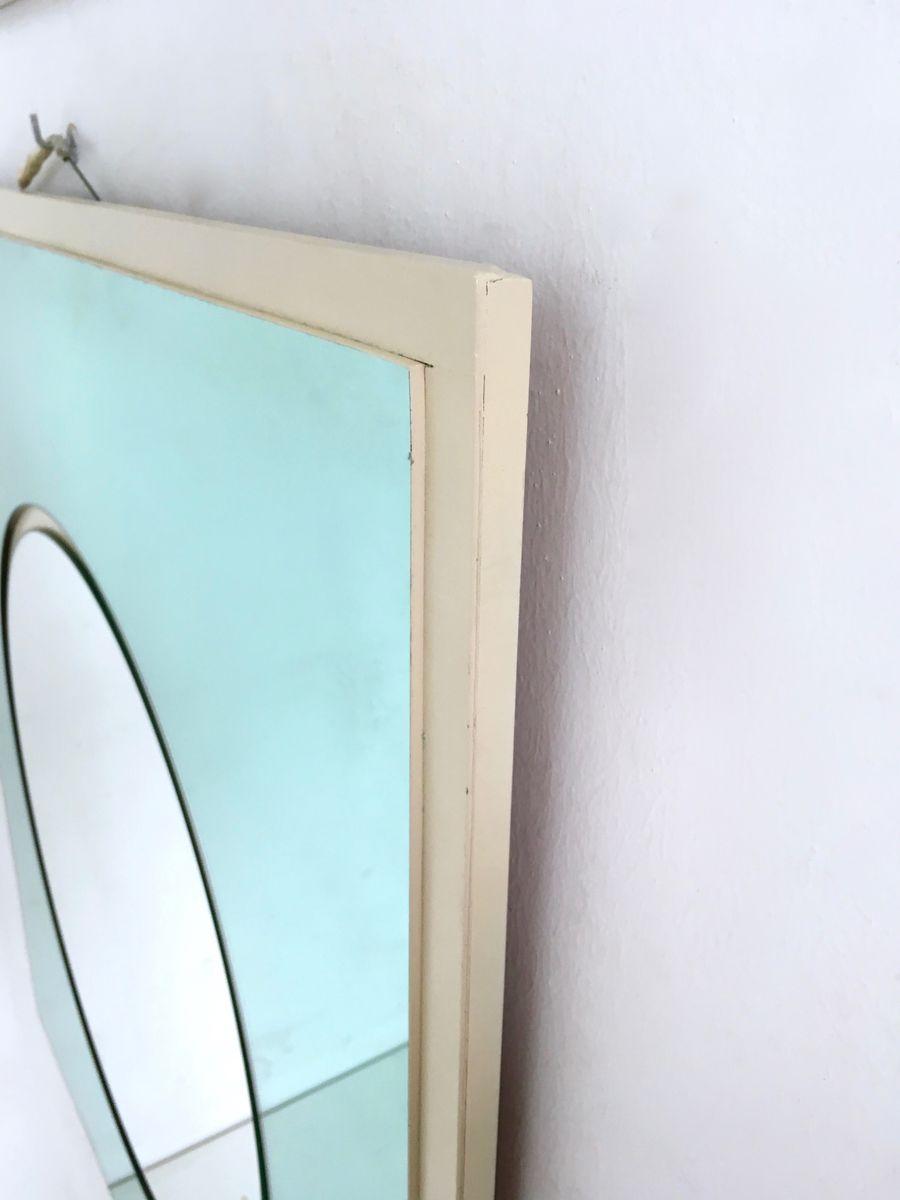 italienische wandspiegel aus holz lackiertem und versilbertem metall 1960er 2er set bei. Black Bedroom Furniture Sets. Home Design Ideas