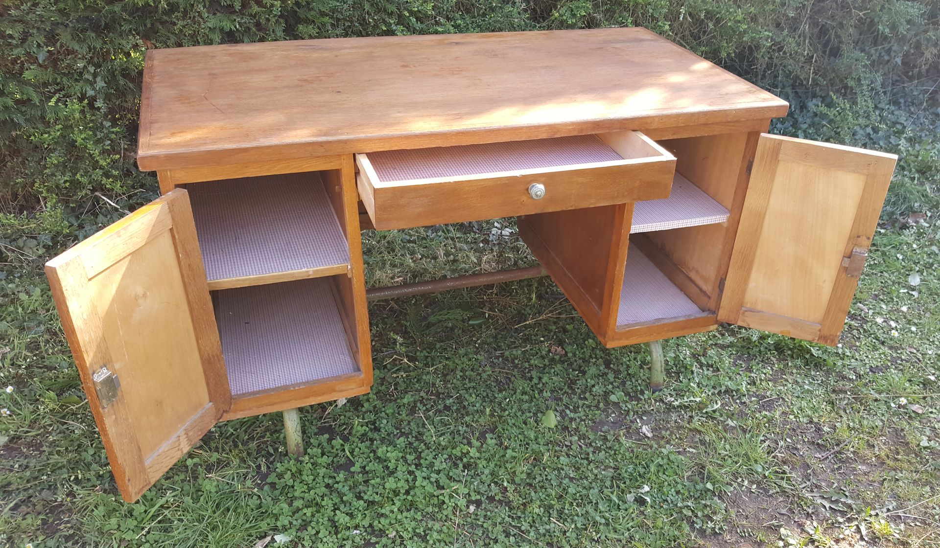 bureau de ma tre d 39 cole 1950s en vente sur pamono. Black Bedroom Furniture Sets. Home Design Ideas