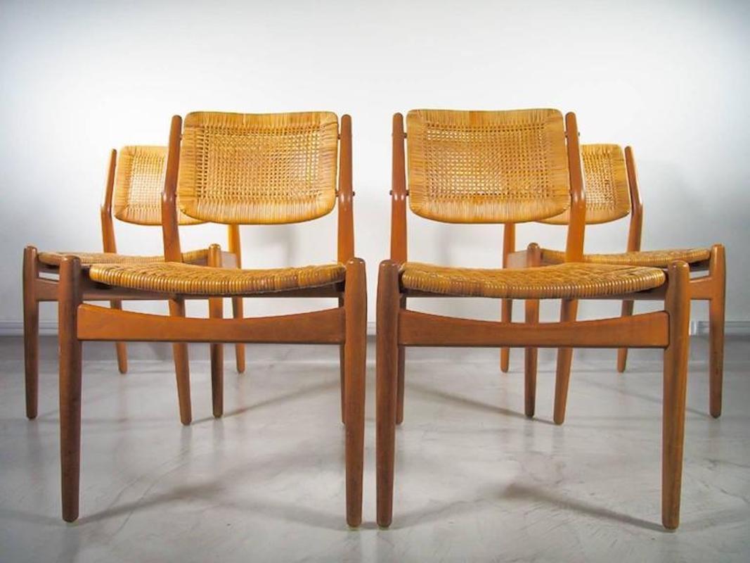 Vintage Rattan Dining Chairs By Arne Vodder Amp Anton Borg