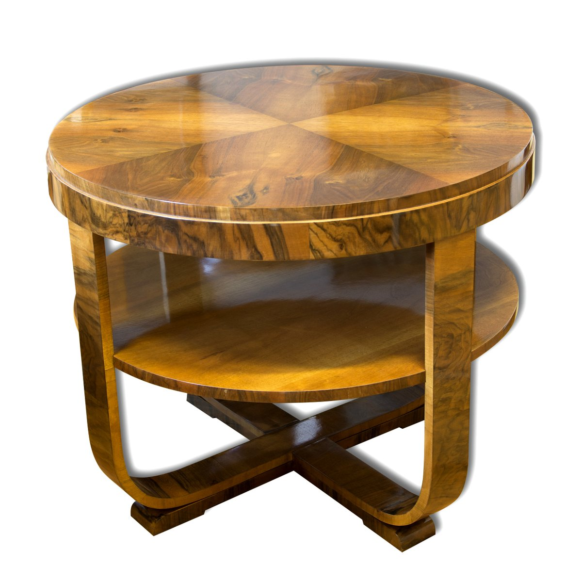 Czech Walnut Veneer Coffee Table By Jindrich Halabala 1930s For Sale At Pamono