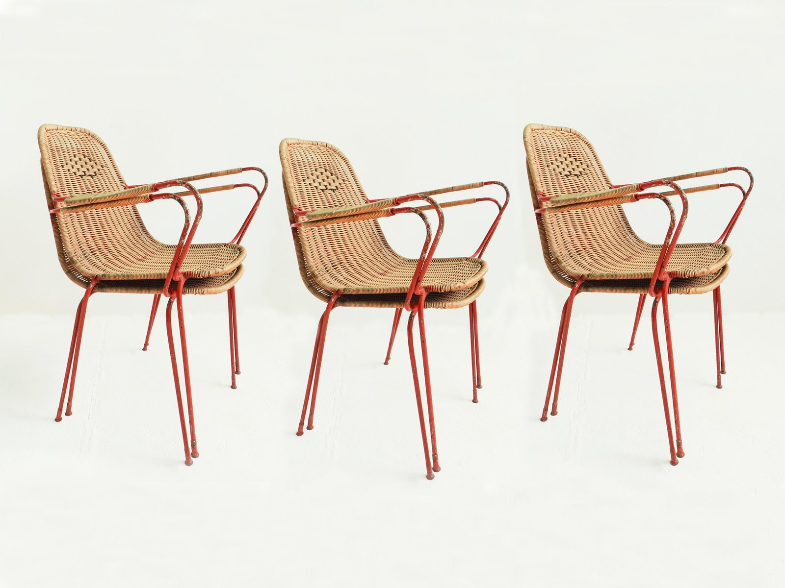 italian vintage garden chairs set of 6 for sale at pamono