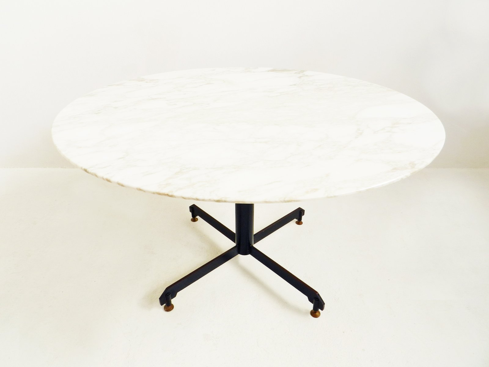 Vintage Dining Table With Marble Top 1950s For Sale At Pamono