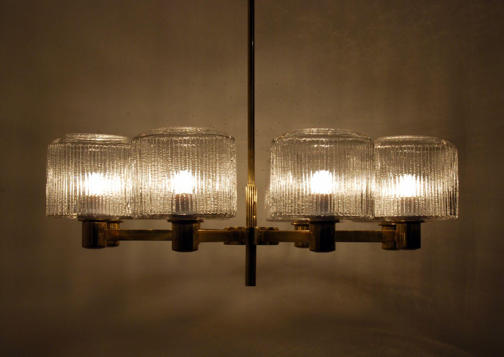 gro er skandinavischer vintage kronleuchter aus messing bei pamono kaufen. Black Bedroom Furniture Sets. Home Design Ideas