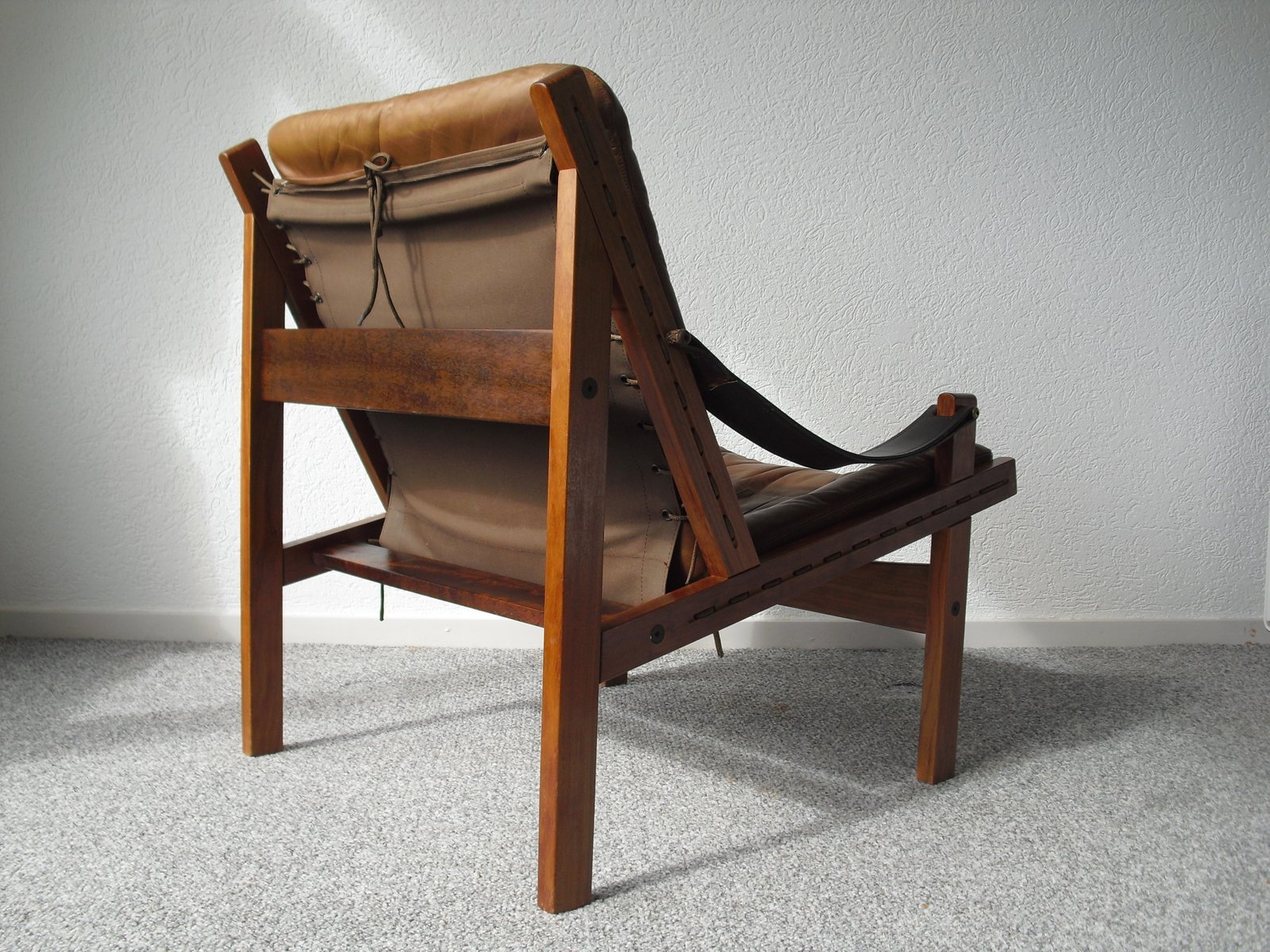 Norwegian Hunter Safari Chair by Torbjorn Afdal for Bruksbo 1960s