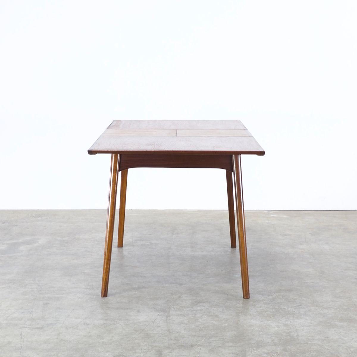 Table de salle manger rallonge par louis van teeffelen for Salle a manger 1960