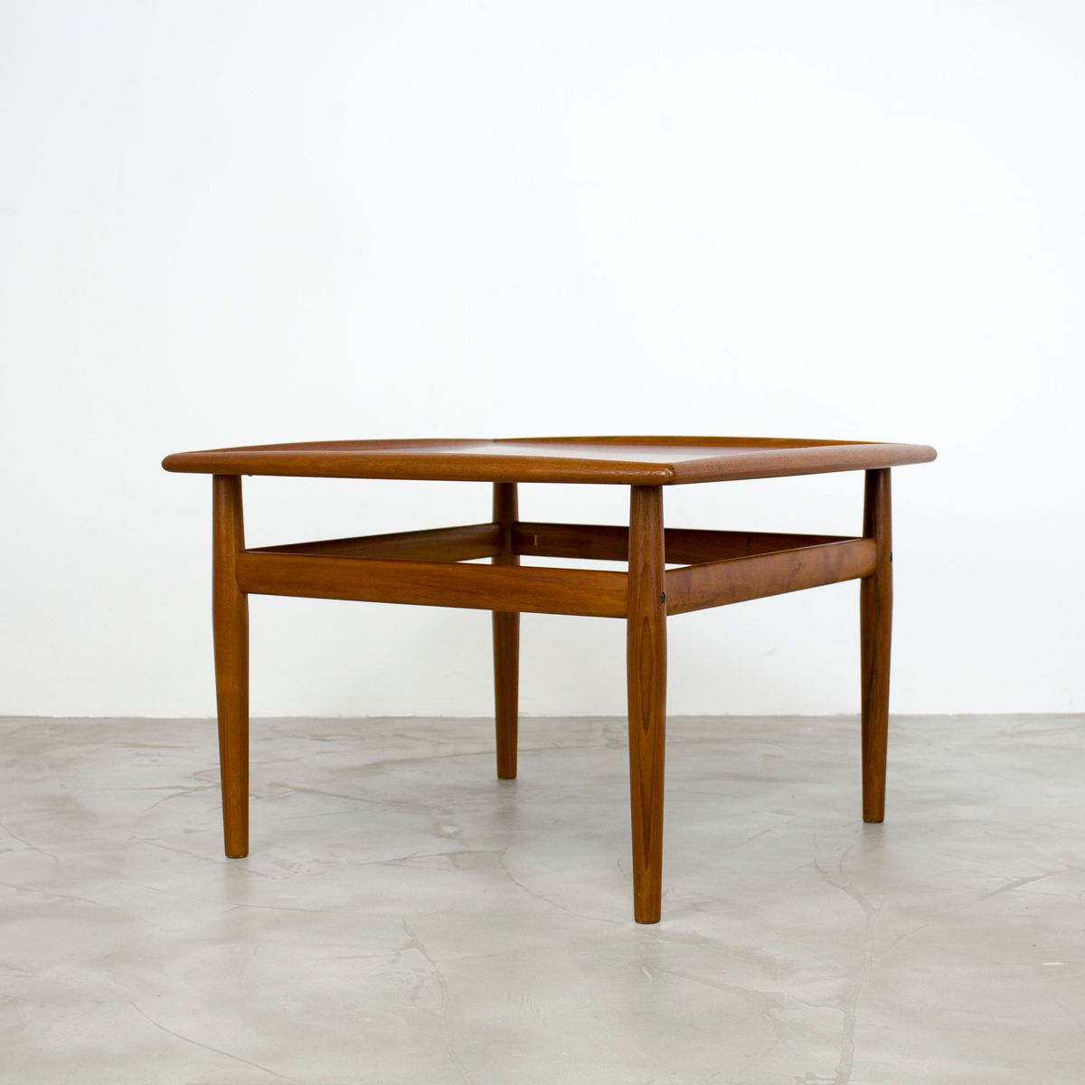 Vintage Square Teak Coffee Table By Grete Jalk For Glostrup For Sale At Pamono