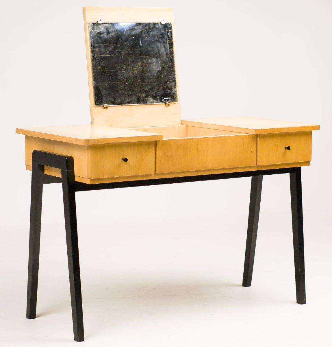 niederl ndischer mid century schreibtisch aus birke bei pamono kaufen. Black Bedroom Furniture Sets. Home Design Ideas