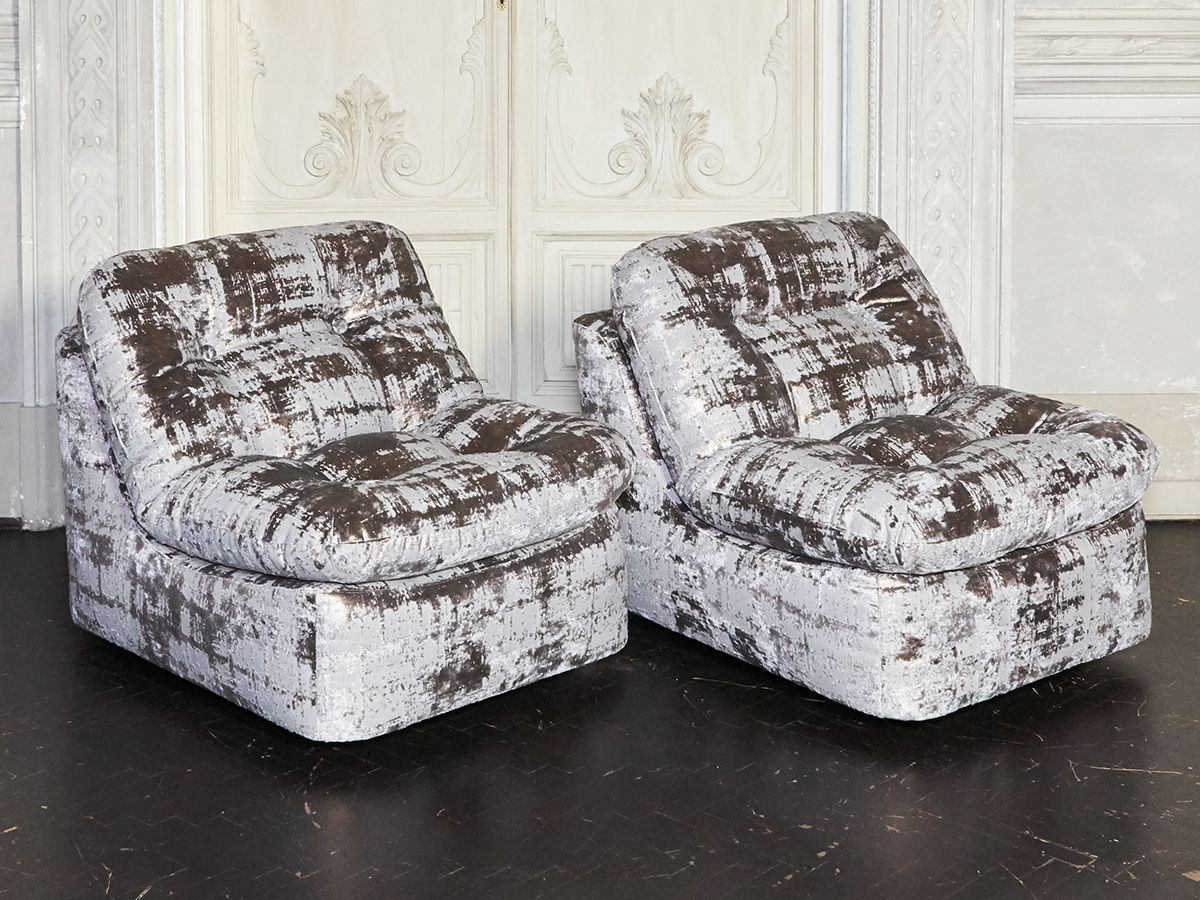 samt sessel 1970er 2er set bei pamono kaufen. Black Bedroom Furniture Sets. Home Design Ideas