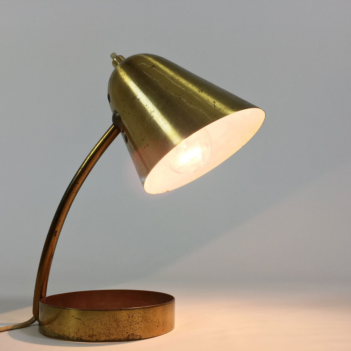 Small French Brass Lamp 1950s For Sale At Pamono