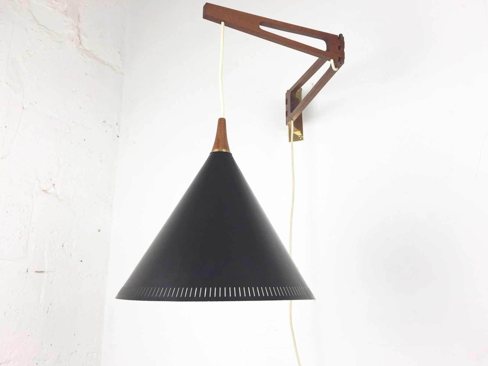 dutch swing arm wall lamp by willem hagoort 1950s