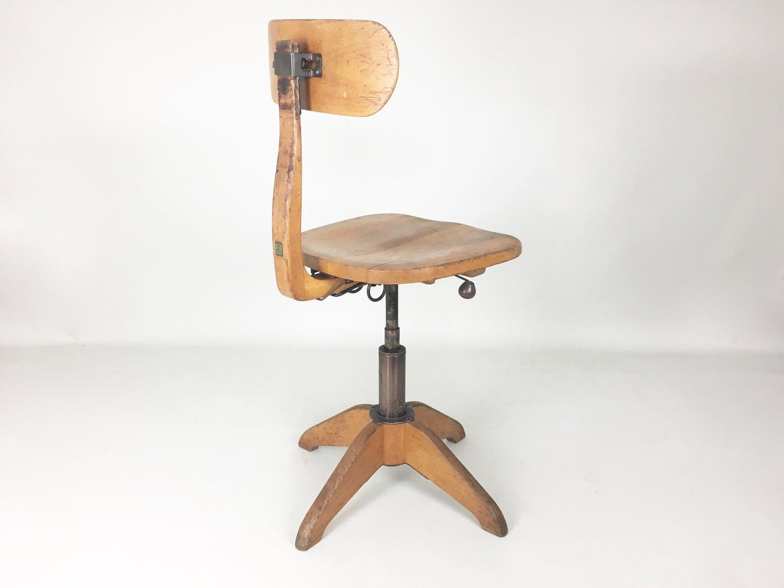 Chaise De Bureau Vintage Industrielle De Giroflex Stoll 1930s En Vente Sur Pamono