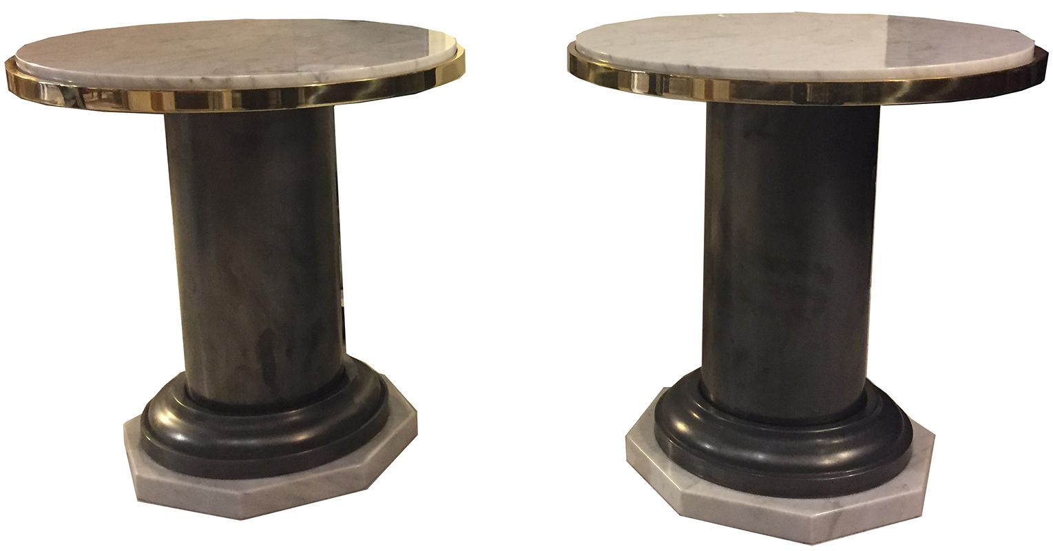 Vintage Iron And Marble Coffee Tables 1970s Set Of 2 For Sale At Pamono