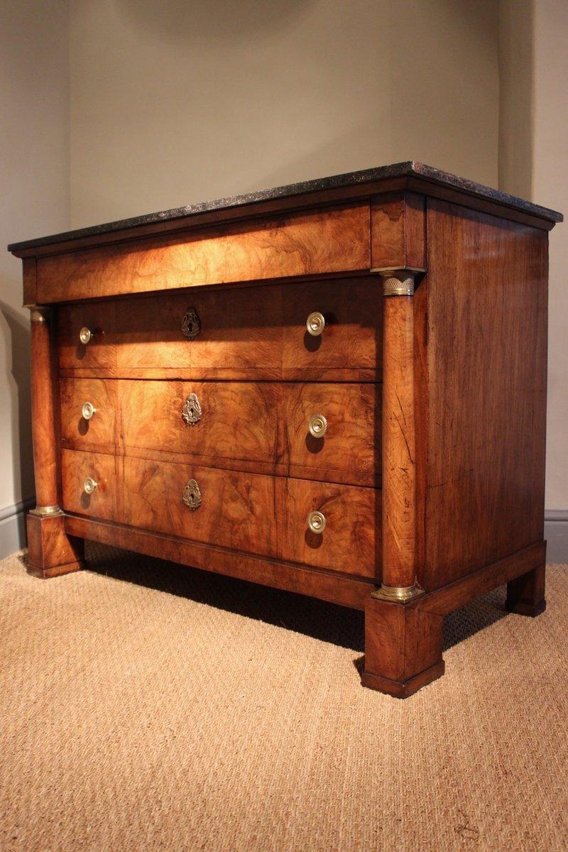 antike french empire walnuss kommode bei pamono kaufen. Black Bedroom Furniture Sets. Home Design Ideas