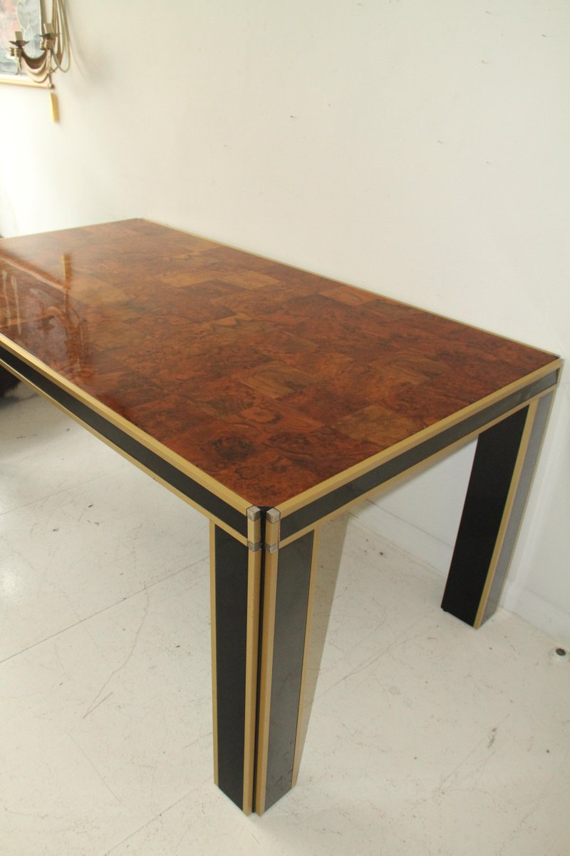 italian lacquer dining room furniture. vintage italian lacquer u0026 walnut dining table by willy rizzo room furniture