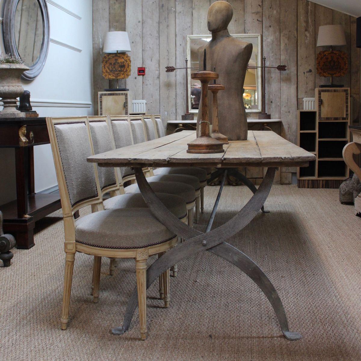 Table De Salle Manger Vintage Industrielle Avec Plateau
