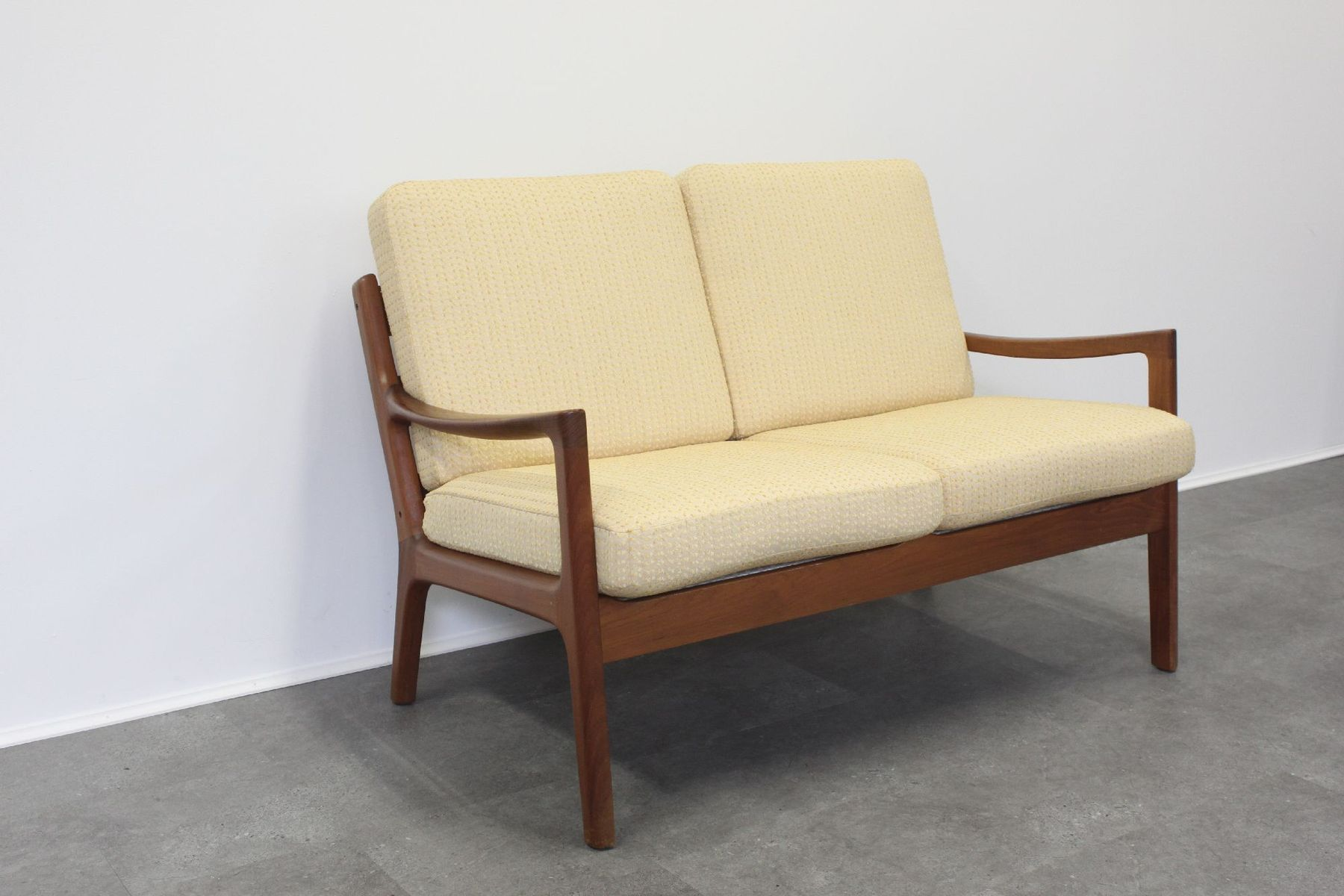 Vintage Teak Two Seater Senator Sofa By Ole Wanscher For