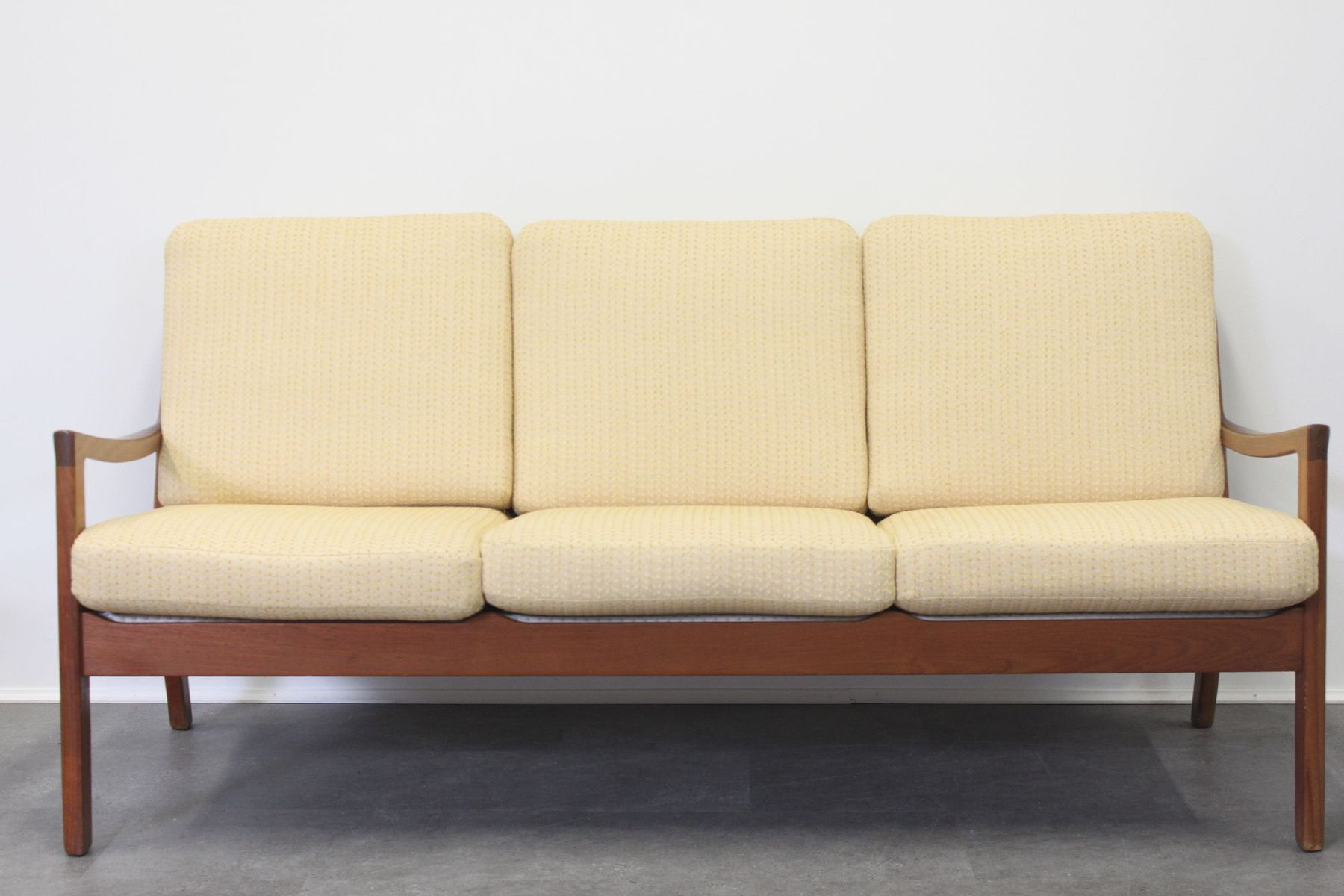 Vintage Teak Three Seater Senator Sofa by Ole Wanscher for Cado