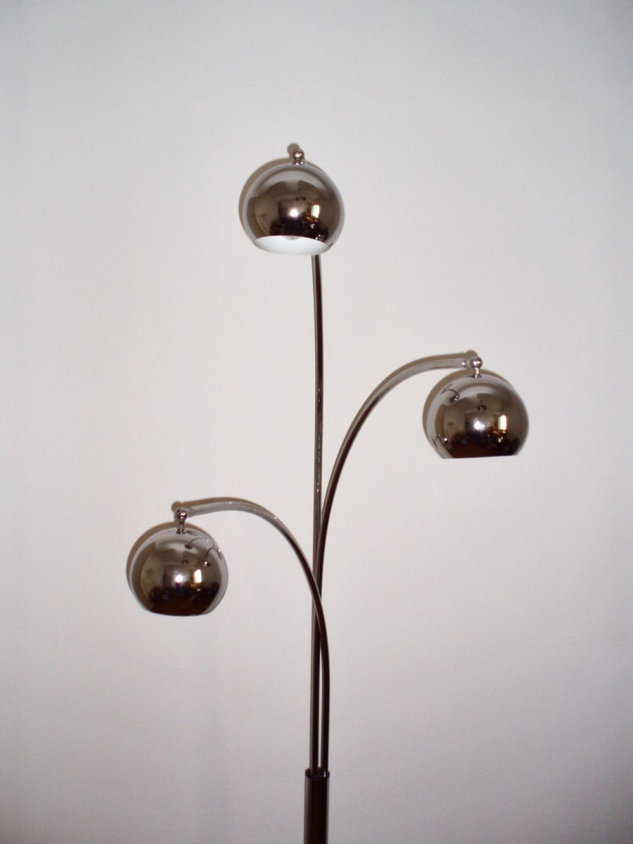 lampadaire en chrome par goffredo reggiani 1970s en vente sur pamono. Black Bedroom Furniture Sets. Home Design Ideas