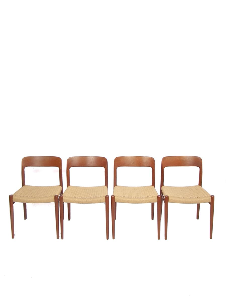 Chaises de salle manger model no 75 de niels otto for Chaises de salle a manger en solde