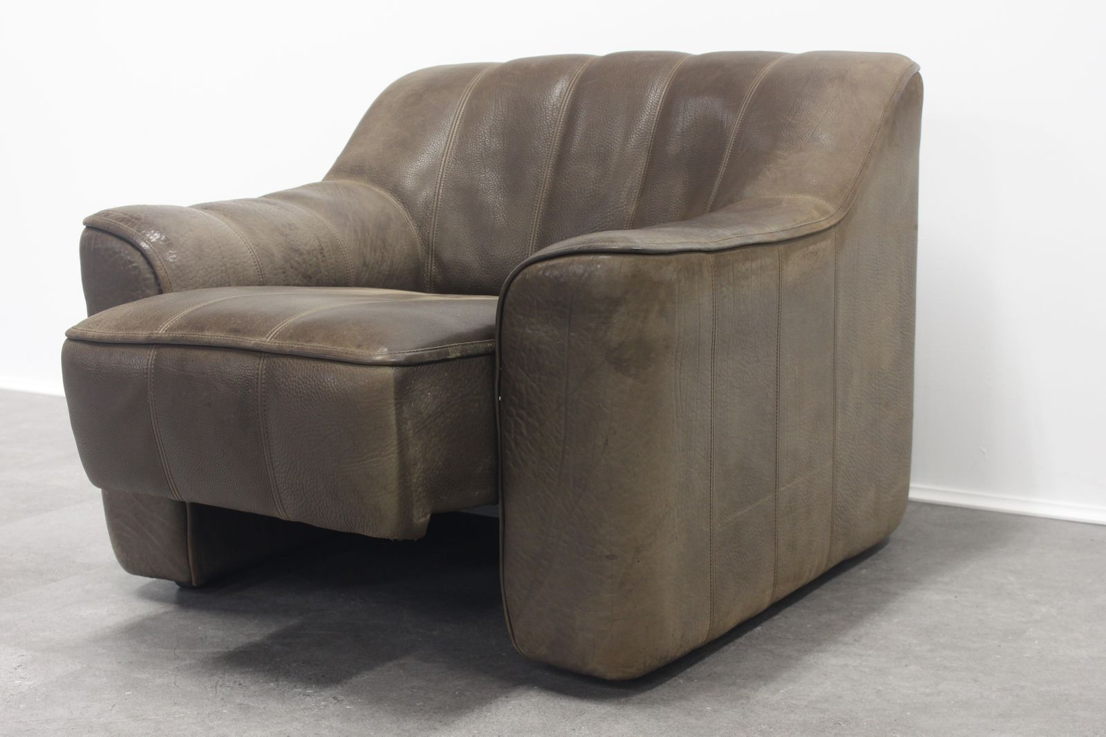 Vintage ds 44 drei sitzer sofa sessel von de sede bei for Sofa 7 sitzer