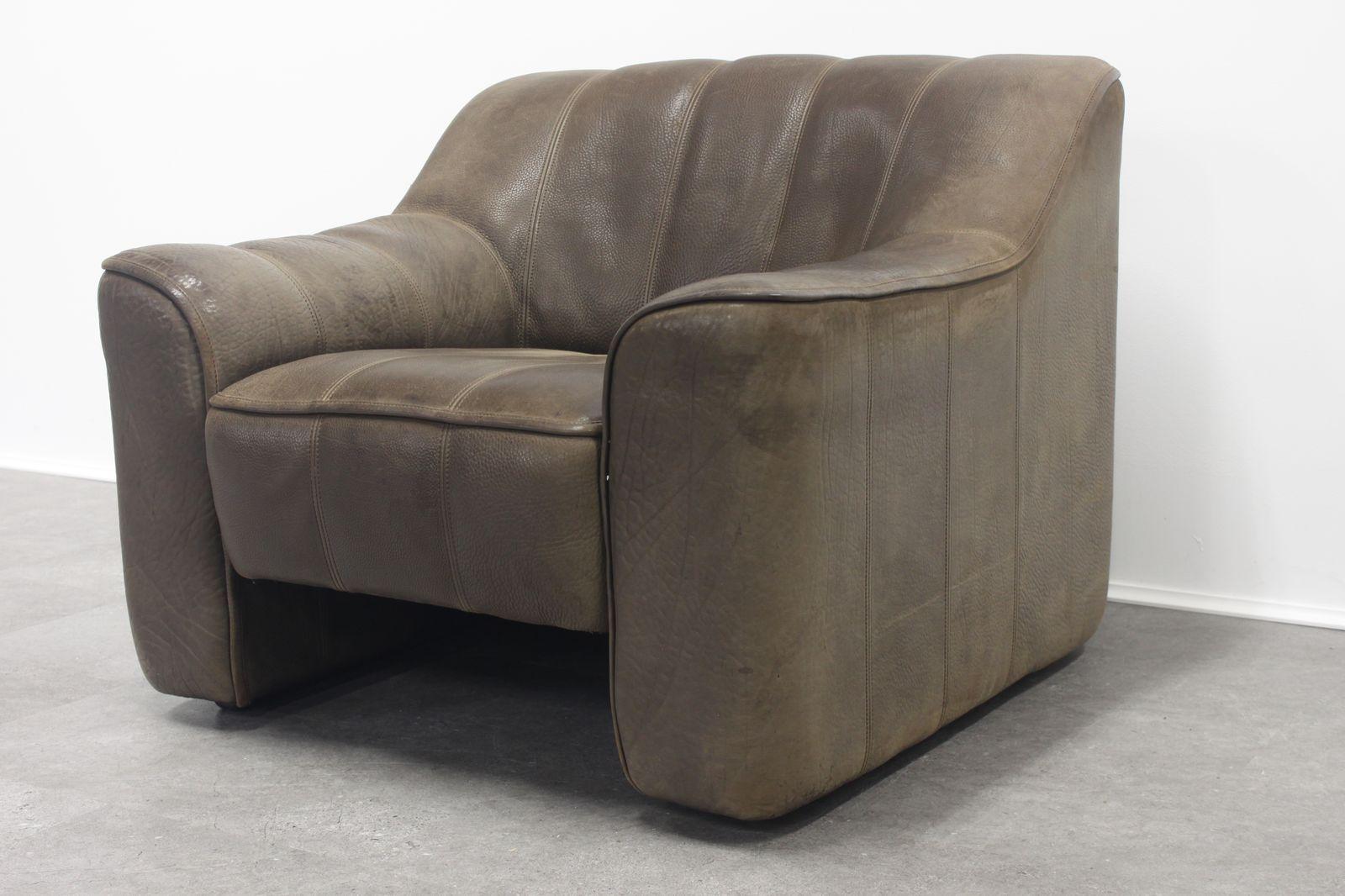 vintage ds 44 drei sitzer sofa sessel von de sede bei. Black Bedroom Furniture Sets. Home Design Ideas