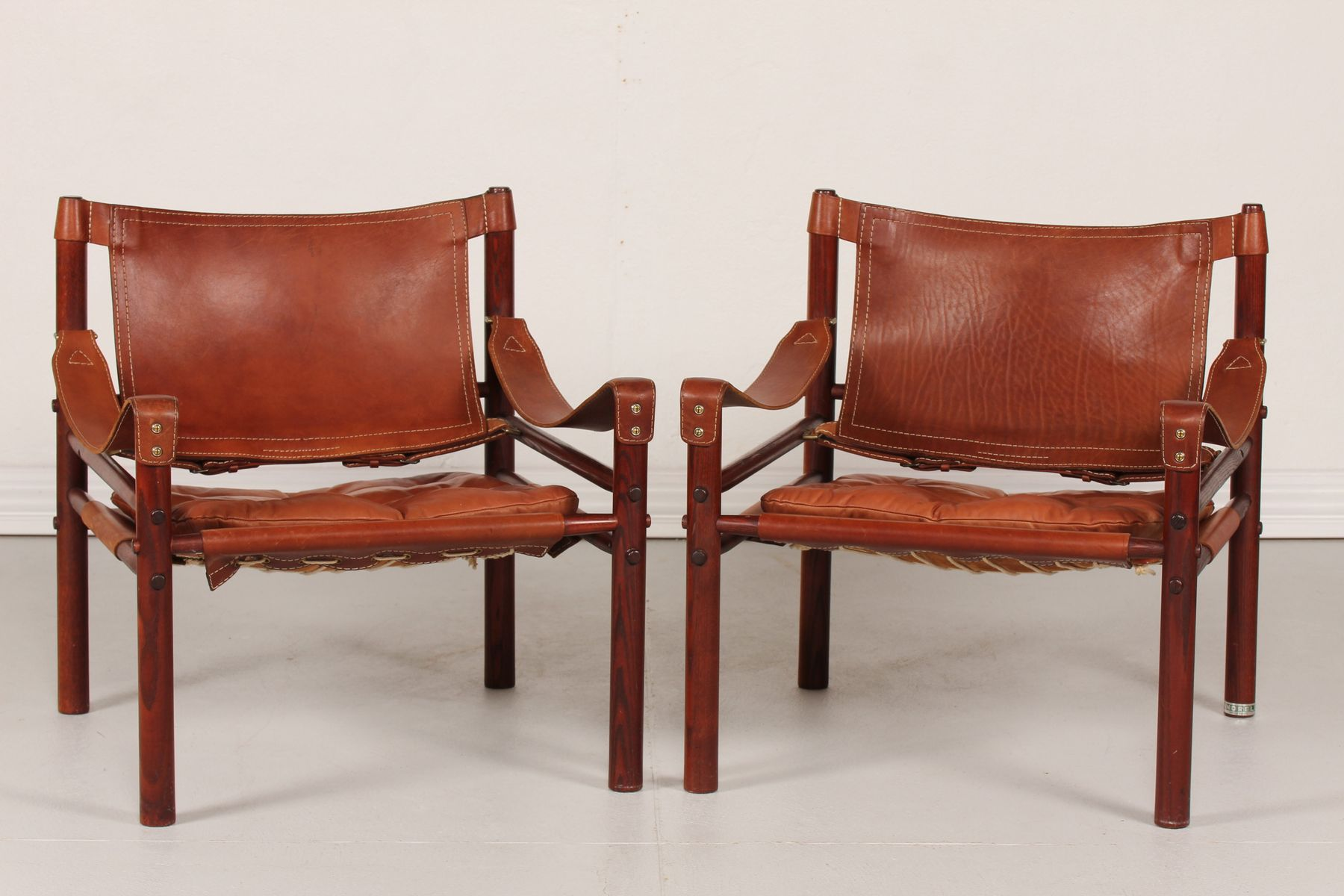 Scirocco Safari Chairs from Arne Norell 1970s Set of 2 for sale