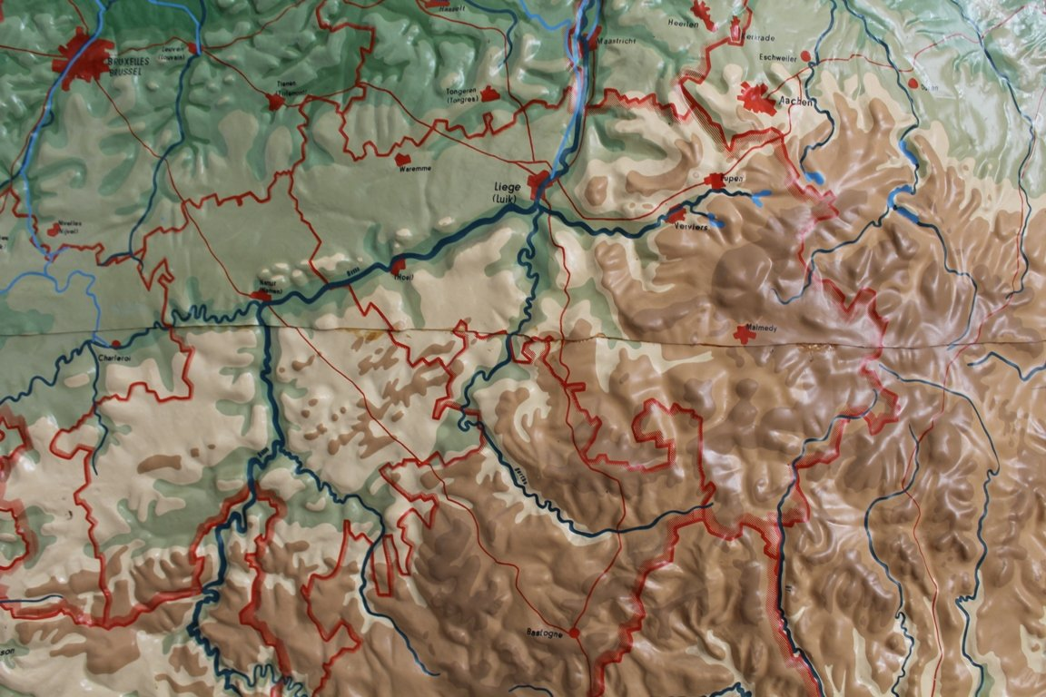 Vintage Relief Map Of Benelux From Chur For Sale At Pamono - Chur map