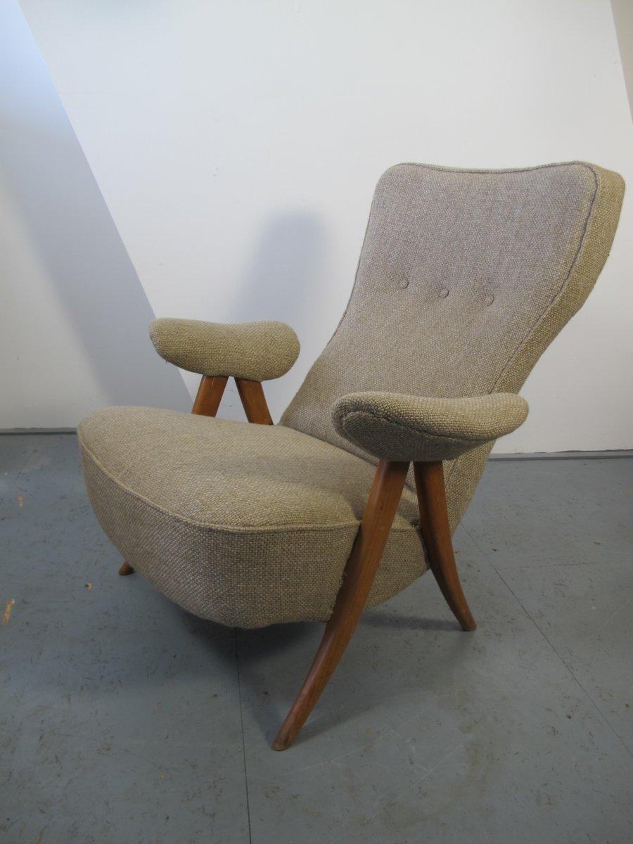 Chaise de salon 105 mid century par theo ruth pour for Chaise pour salon