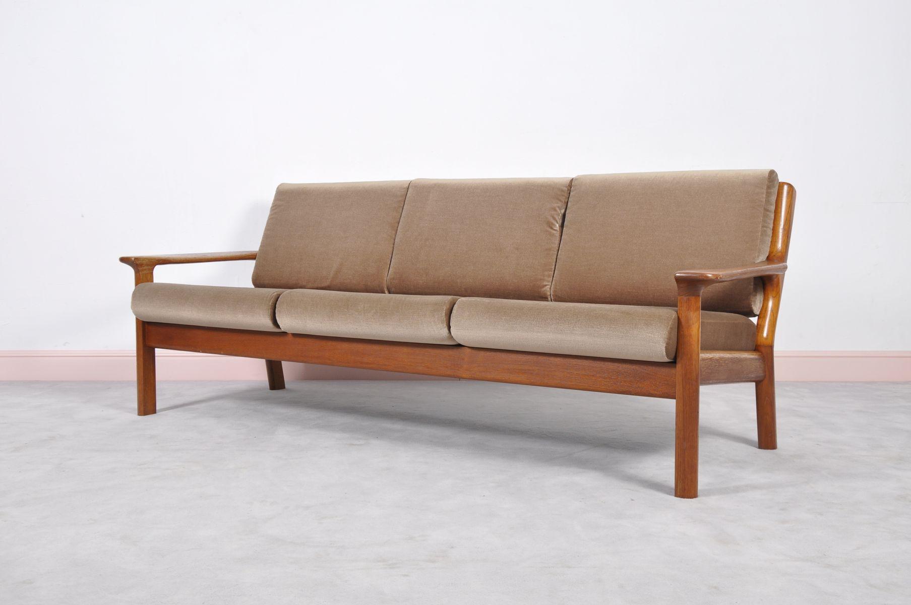 d nisches teak sofa von juul kristiensen f r glostrup. Black Bedroom Furniture Sets. Home Design Ideas