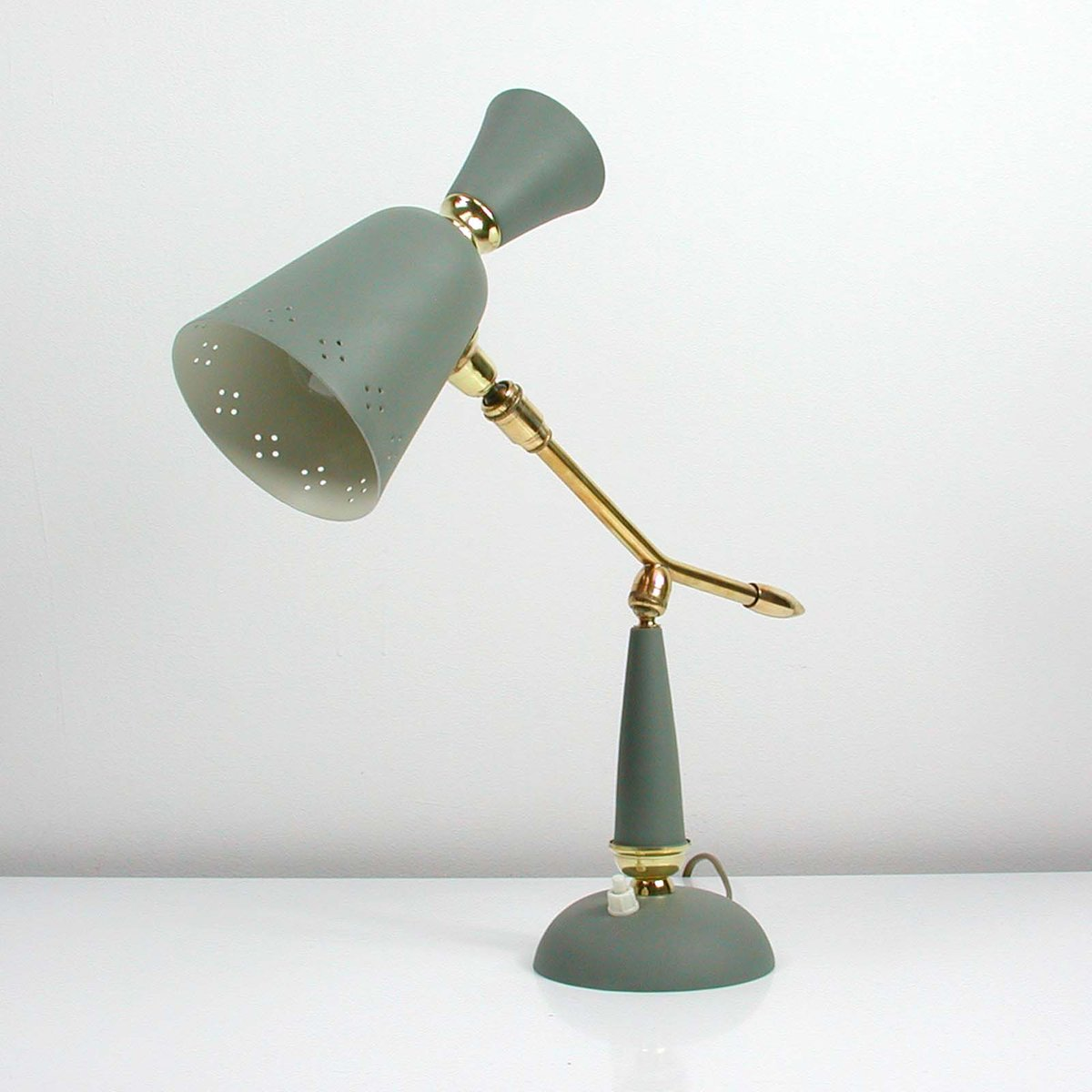 Mid Century Vintage French Table Lamp 1950s For Sale At