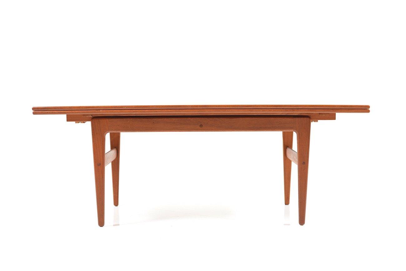 table de salle manger vintage en teck par kai kristiansen en vente sur pamono. Black Bedroom Furniture Sets. Home Design Ideas