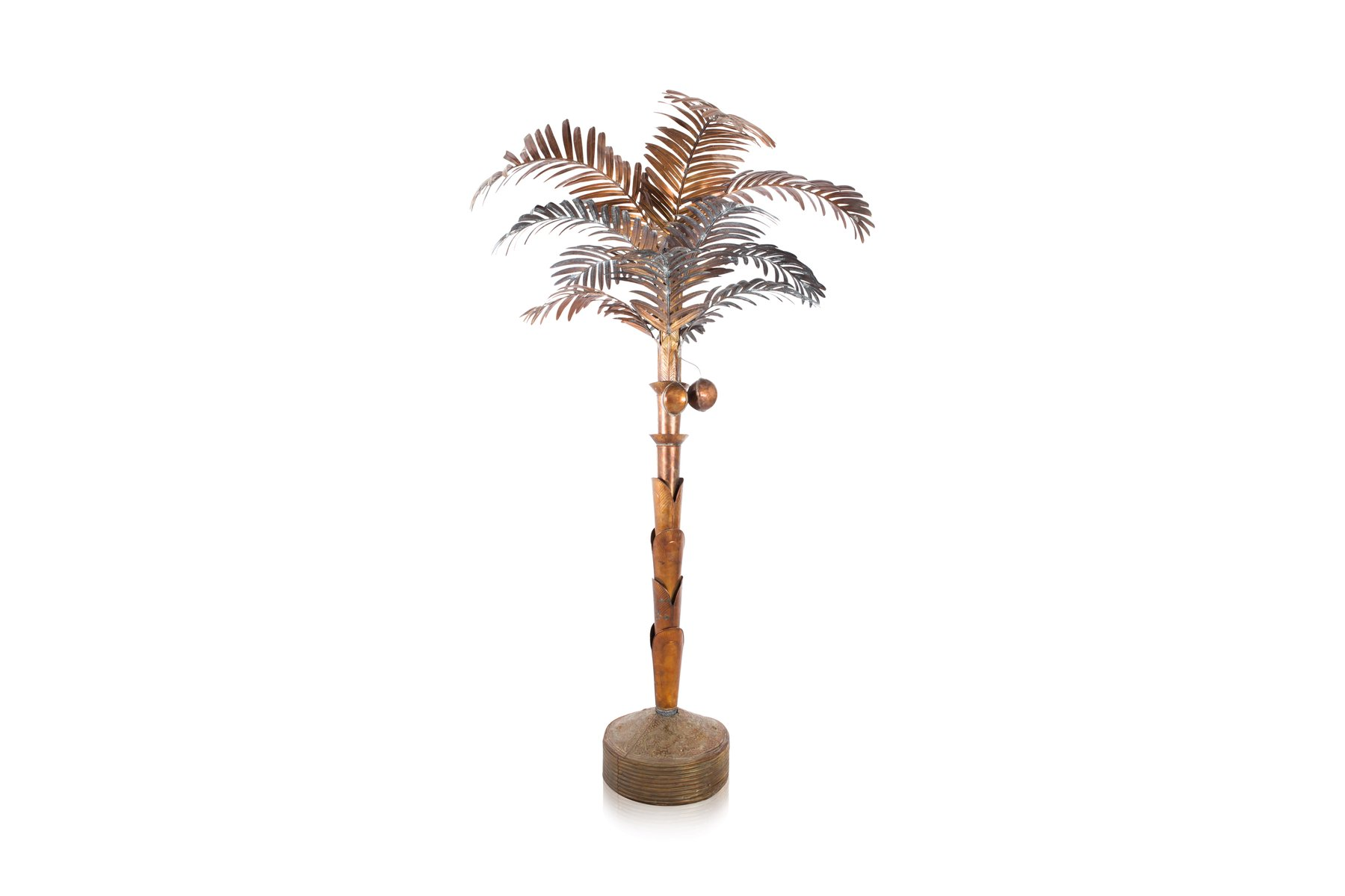 vintage brass palm tree floor lamp for sale at pamono. Black Bedroom Furniture Sets. Home Design Ideas