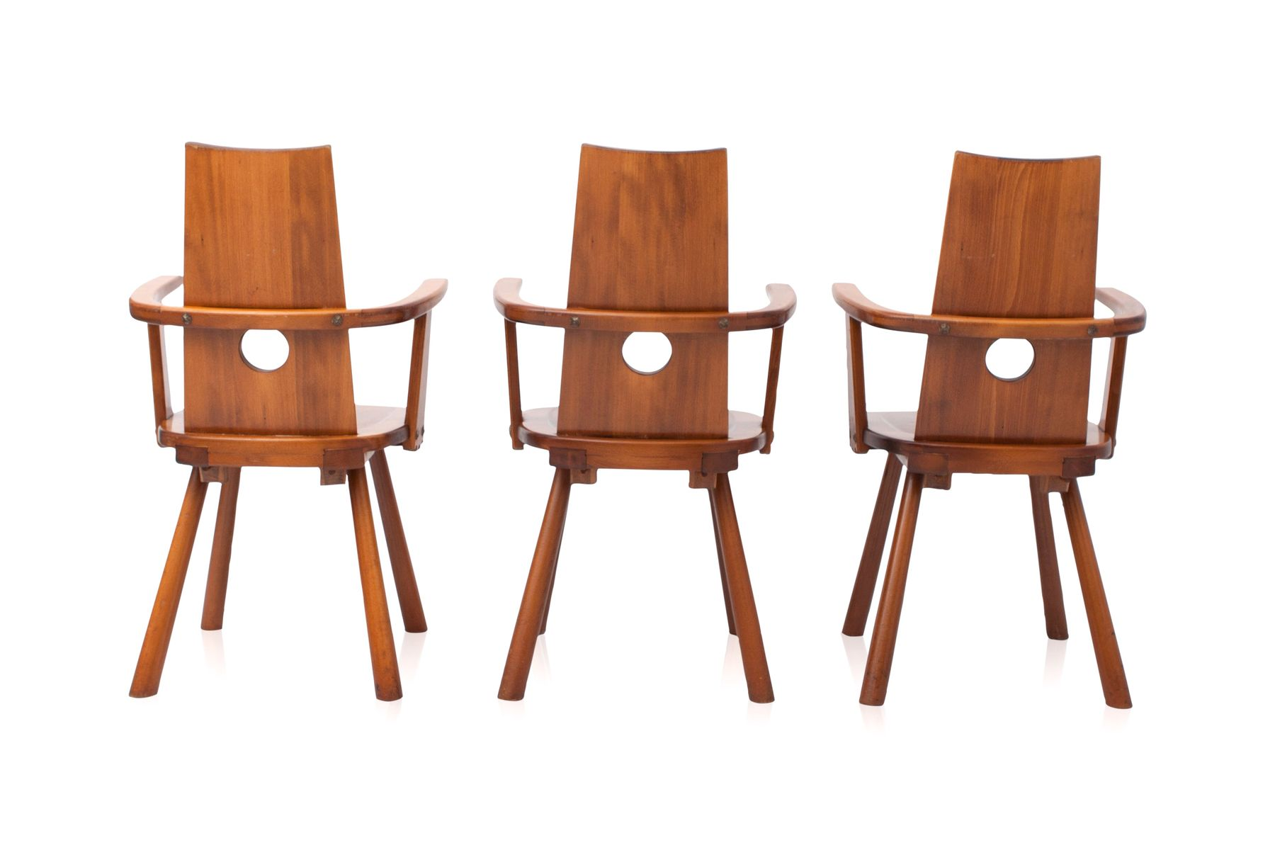 French Mid Century Dining Chairs Set Of 6 For Sale At Pamono