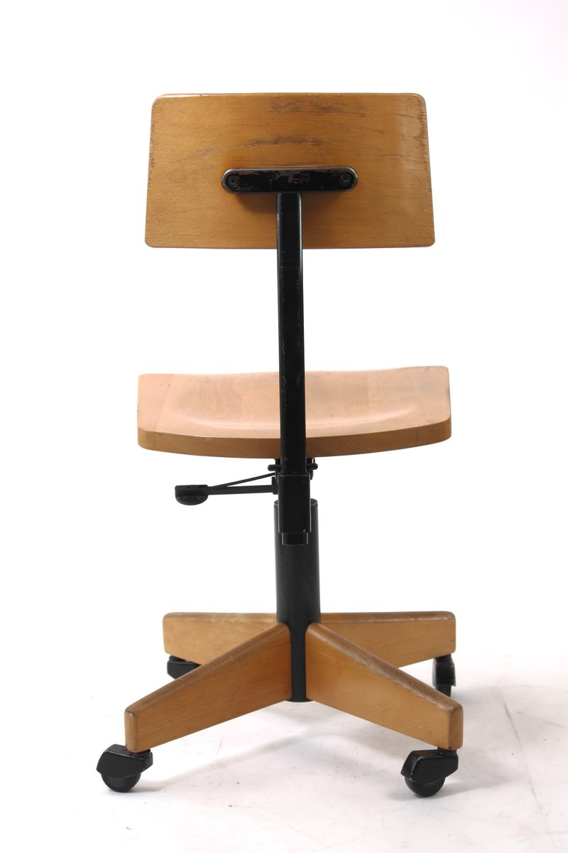 Wooden Architect S Swivel Chair From Stoll Giroflex 1960s