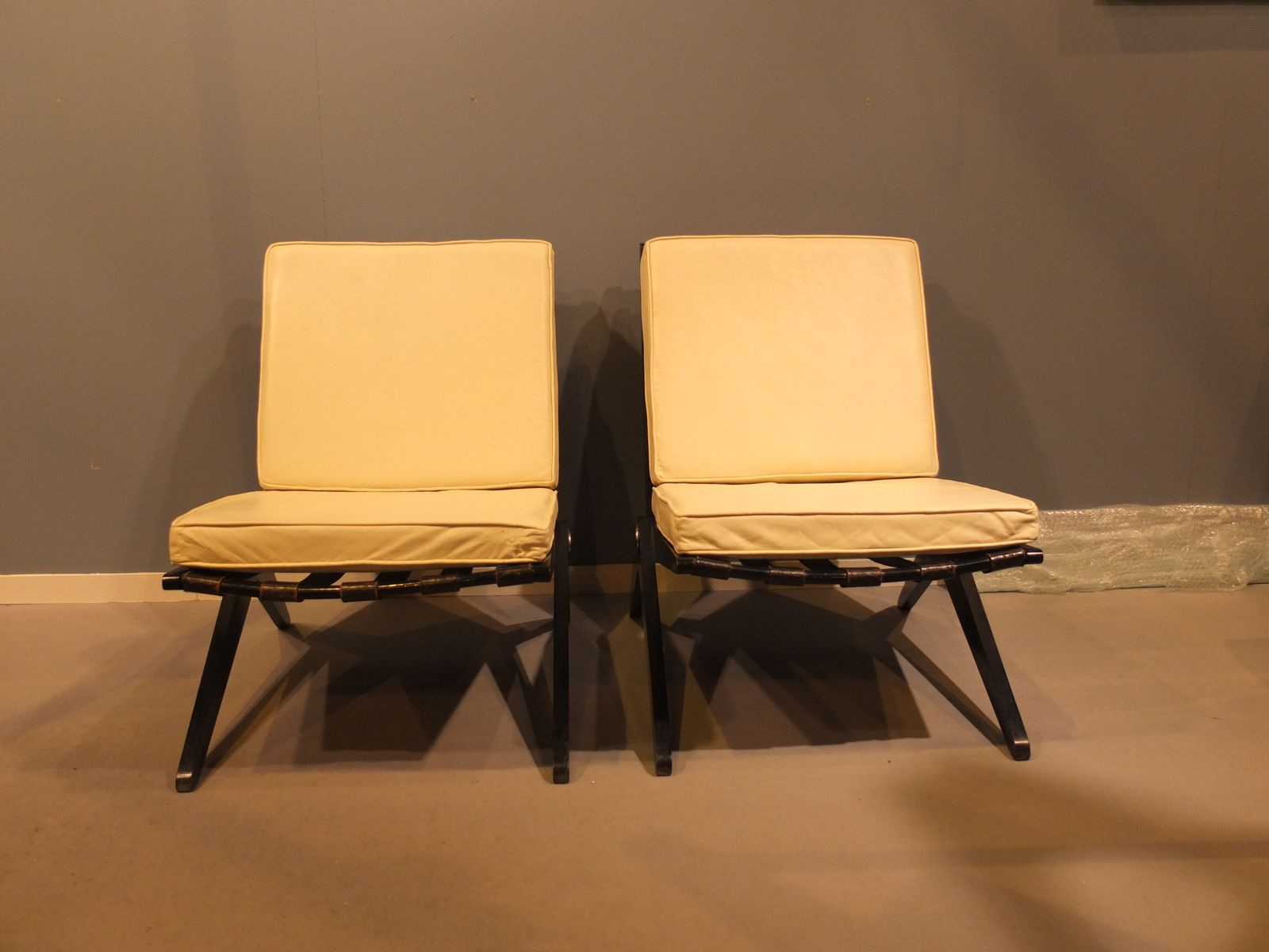 Mid century scissor chairs by pierre jeanneret for knoll set of 2 for sale at pamono - Knoll inc chairs ...