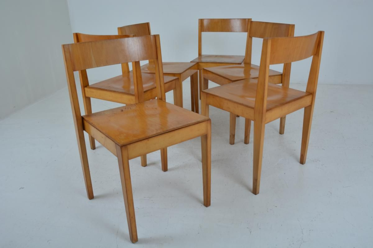 Mid century wooden dining chairs from l bke 1960s set of for Wooden dining chairs for sale