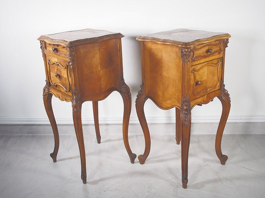 Antique Louis XV Nightstands on Cabriole Legs, Set of 2 for sale ...