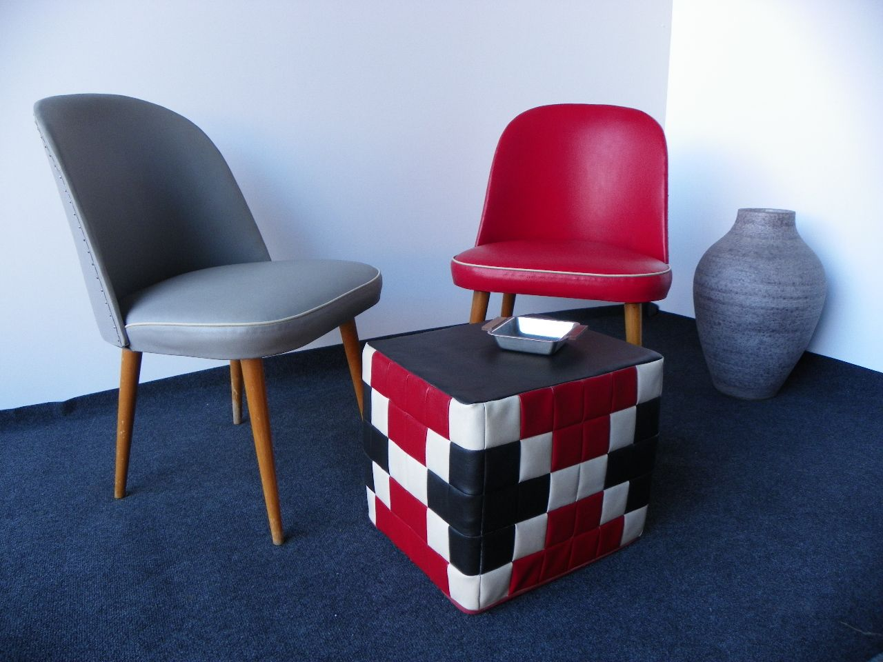 patchwork hocker 1970er bei pamono kaufen. Black Bedroom Furniture Sets. Home Design Ideas