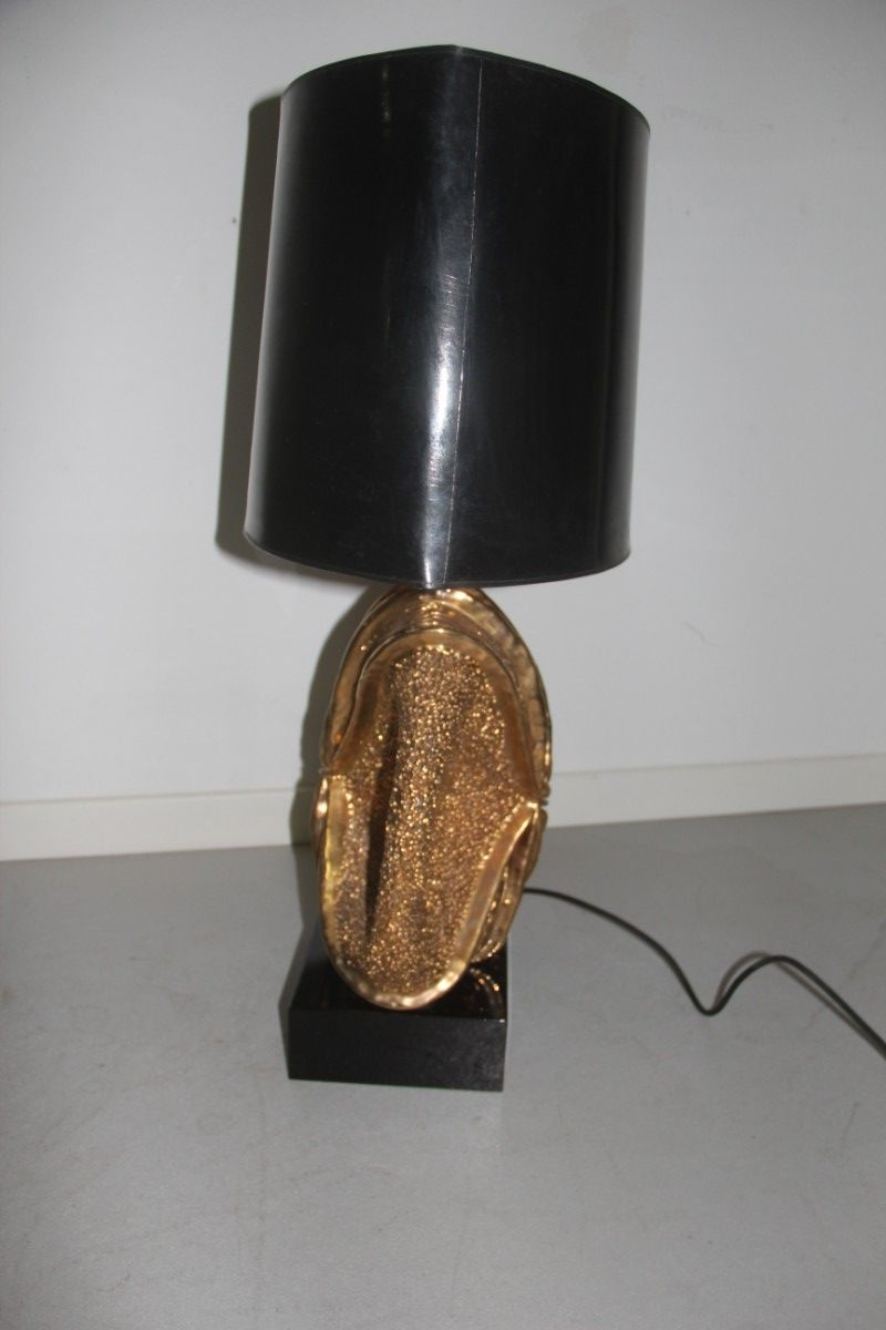 large lacquered wood ceramic table lamp 1970s for sale at pamono. Black Bedroom Furniture Sets. Home Design Ideas