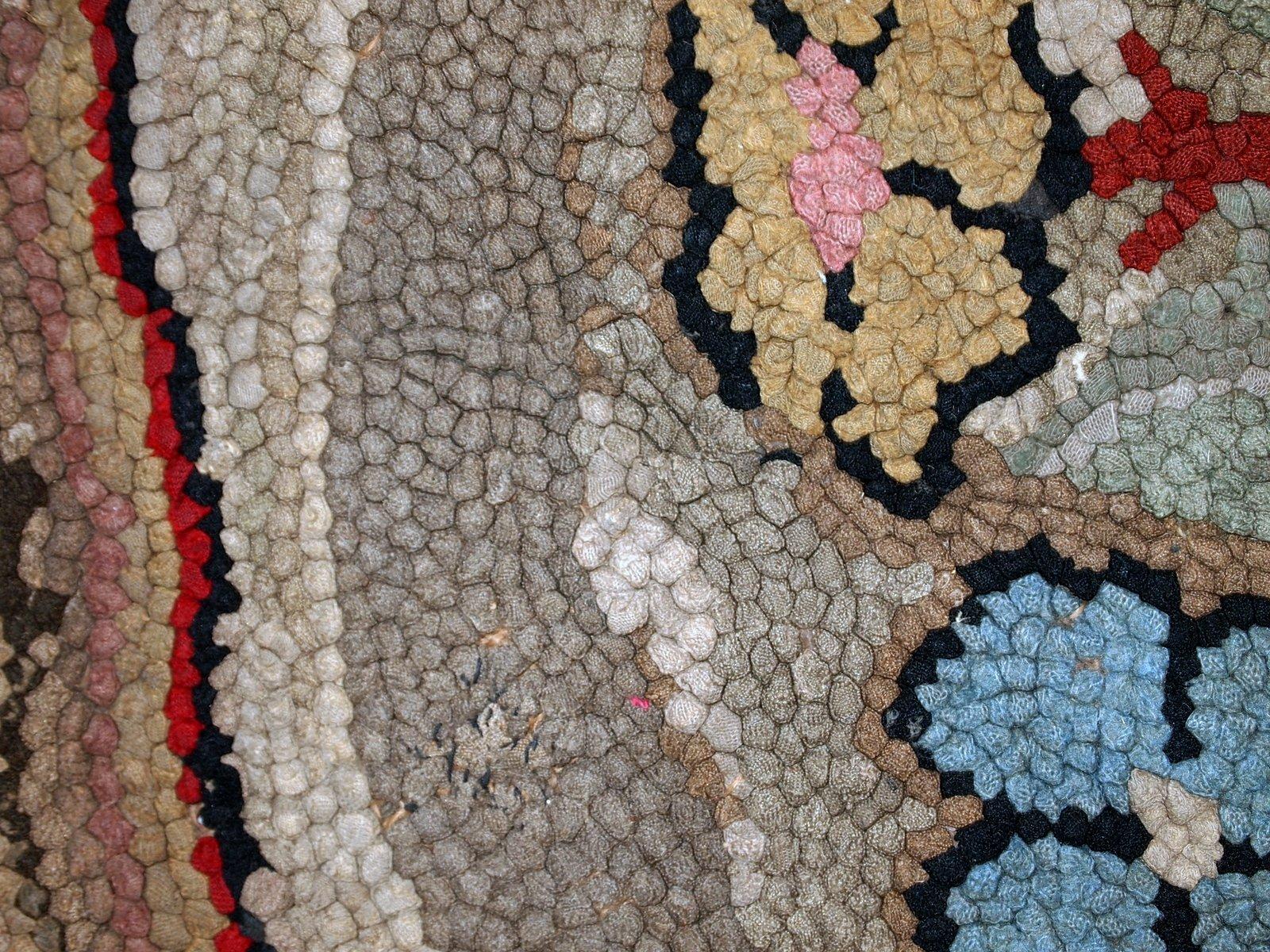 antiker amerikanischer handgemachter teppich bei pamono kaufen. Black Bedroom Furniture Sets. Home Design Ideas
