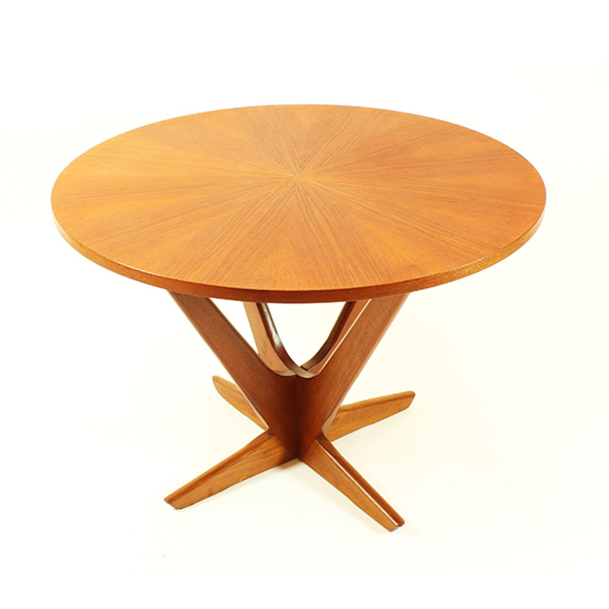 Mid Century Round Danish Teak Coffee Table For Sale At Pamono